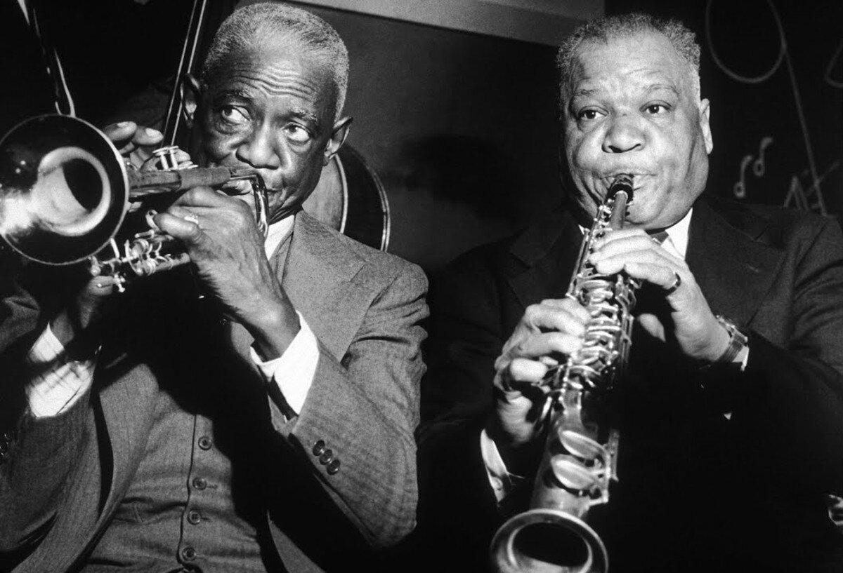 Bunk Johnson and Sidney Bechet