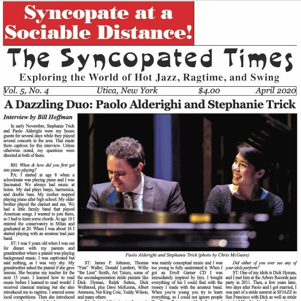 Syncopated Times 2020-03 April cover 600