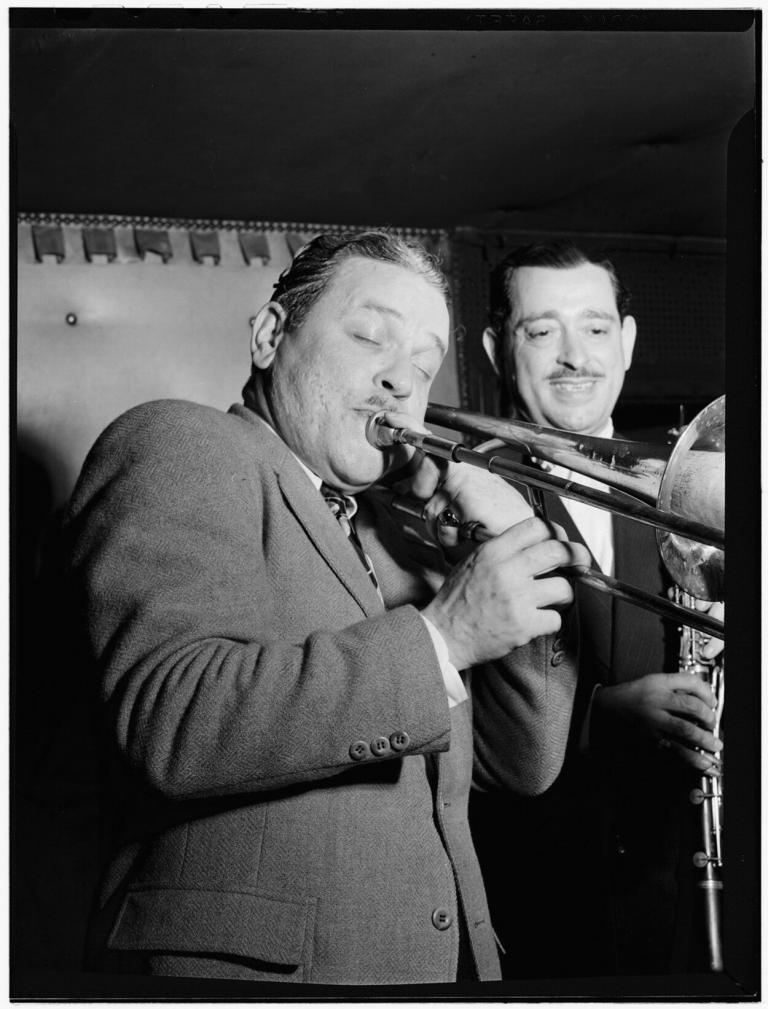 Portrait of George Brunis and Tony Parenti, Jimmy Ryan's (Club), New York, N.Y.