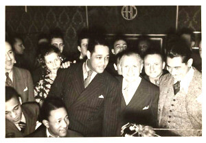 Irving Mills with Duke Ellington