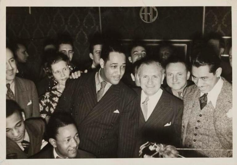 Irving Mills with Duke Ellington