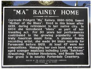 Ma Rainey Home sign