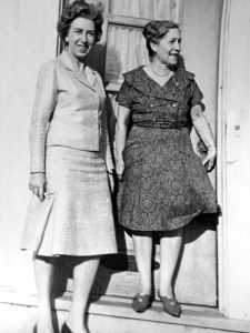 Peter Lundberg's mother (left) with Amelia Lamb. (courtesy Peter Lundberg)