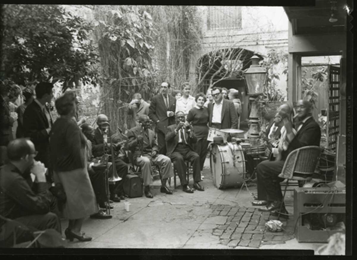 Preservation Hall Courtyard 1960s