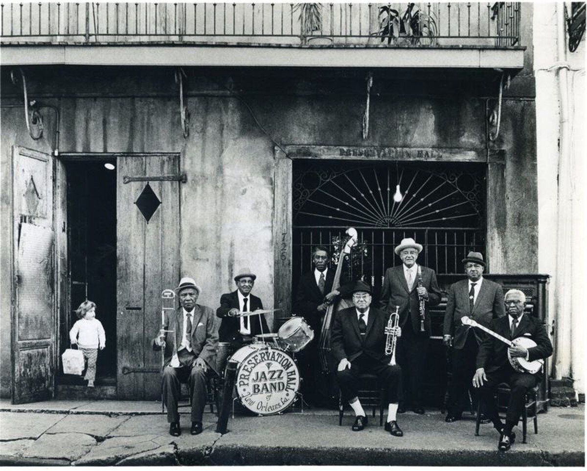 Preservation Hall Jazz Band 1966 - photo by Ralph Cowan