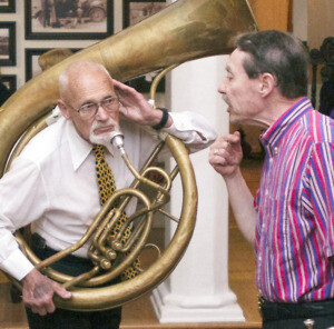 Tex Wyndham and Tuba Player Art Levin