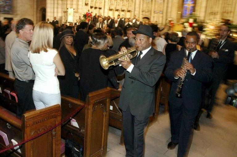 Wynton at Lionel Hampton Funeral