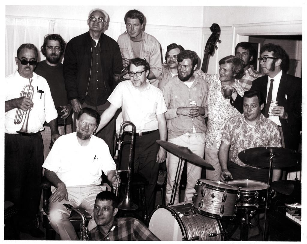 1972 group photo of East Bay Jazz Revival musicians