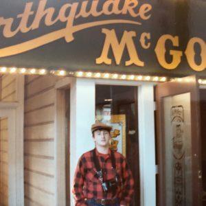 Clint at Earthquake McGoon's (Pier 39), 1984