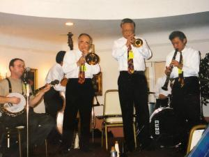 Clint with New Orleans Rascals of Osaka at San Diego Jazz Fest 2003