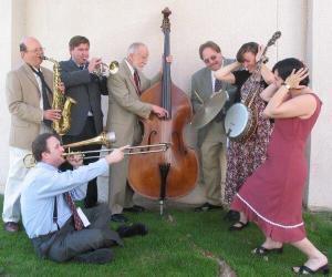 Clint Baker New Orleans Jazz Band 2002 by Marlene Zeigler