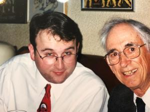 Clint and Tom Sharpsteen at New Suntory 5 (Osaka, Japan) 2001