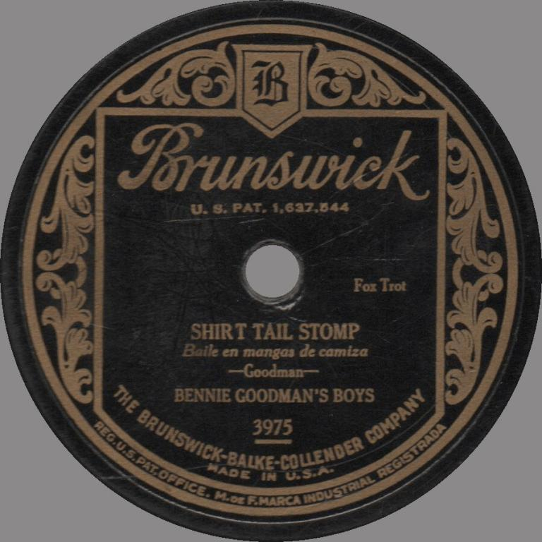 Shirt Tail Stomp Bennie Goodman Boys