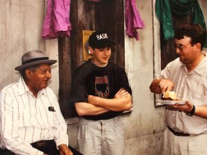 Clint Baker and Robert Barics with Willie Humphrey, 1992
