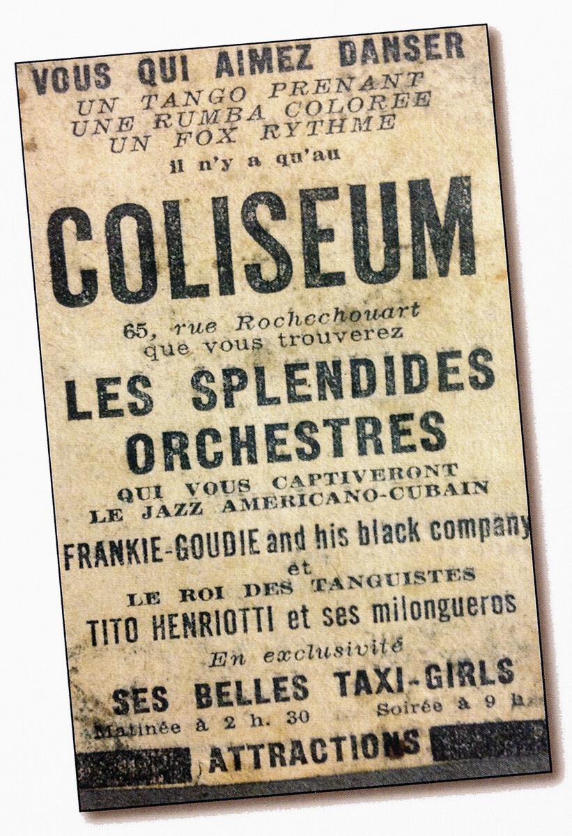 Parisian flyer, 1936.