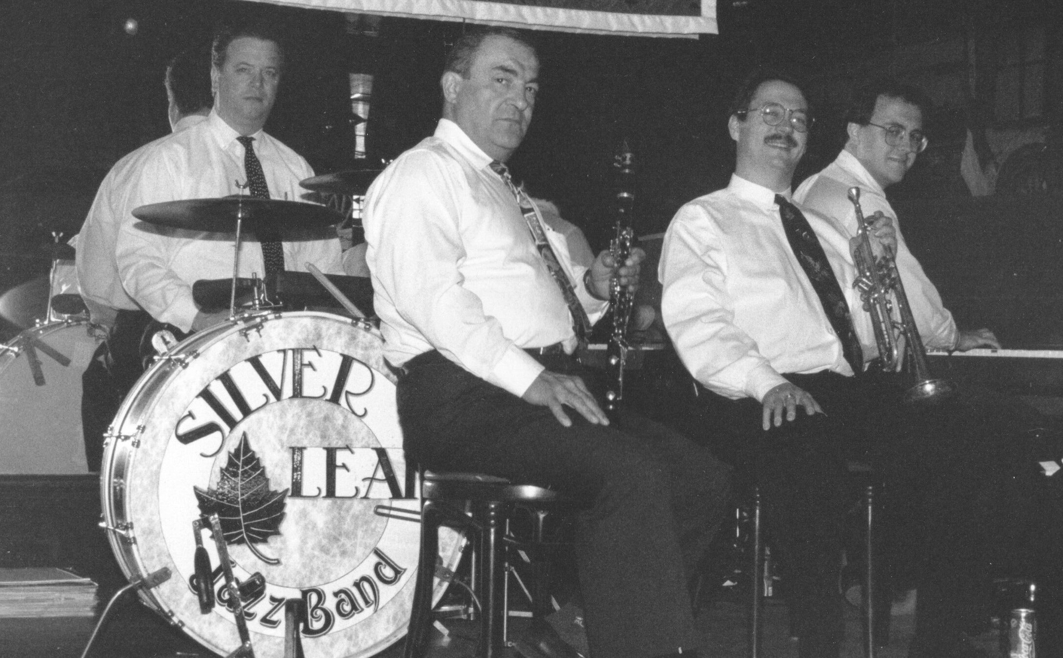 Chris Tyle on clarinet with the Silver Leaf Jazz Band at the Can - Can c. 1998