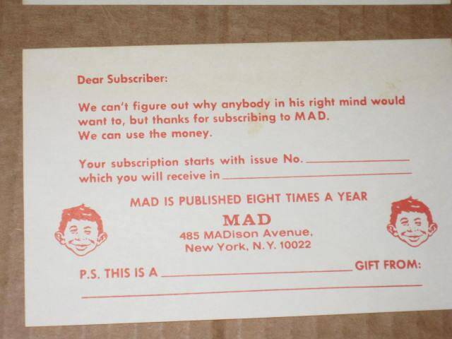 Mad renewal card