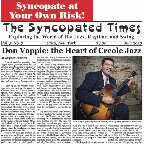 Syncopated Times 2020-07 July cover