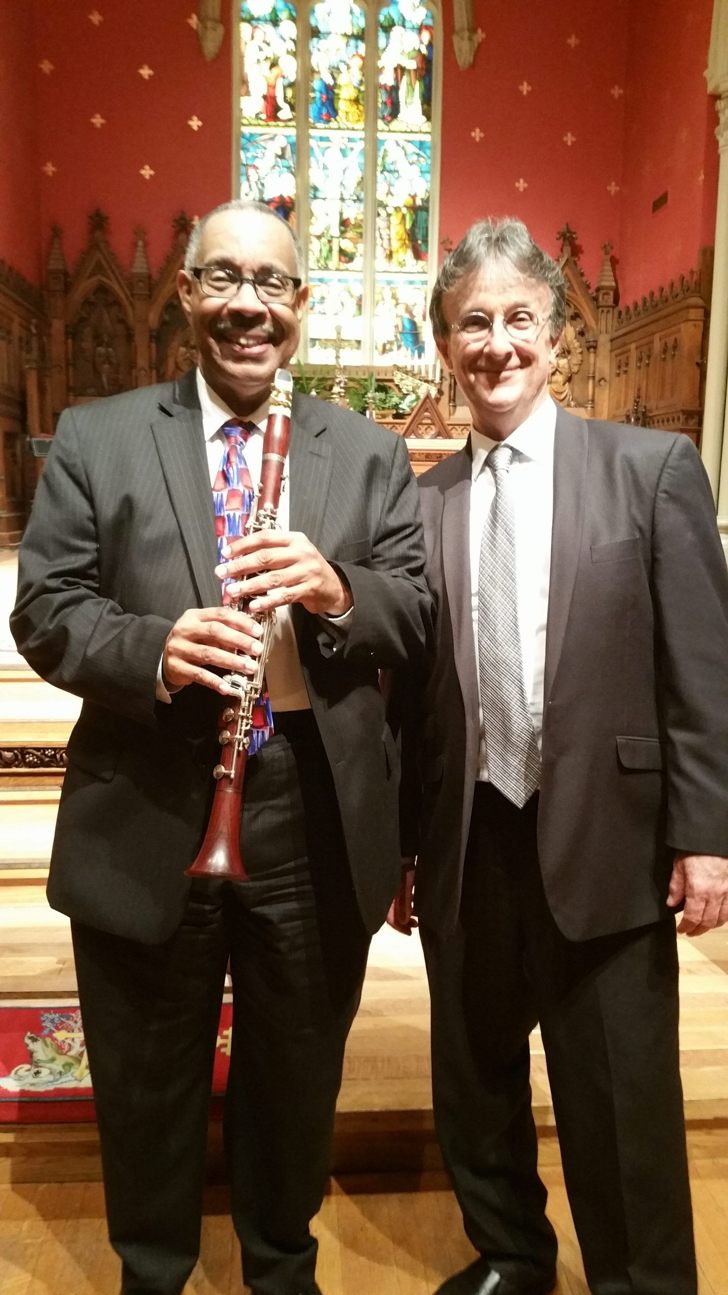 Dr. Michael White and Steve Pistorius
