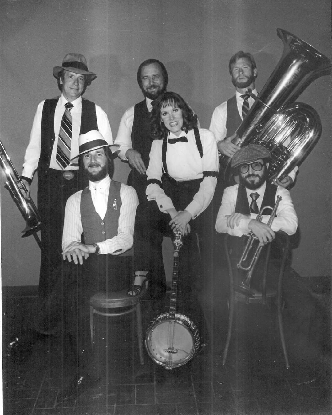 Banu Gibson New Orleans Hot Jazz Orchestra 1981 with Steve