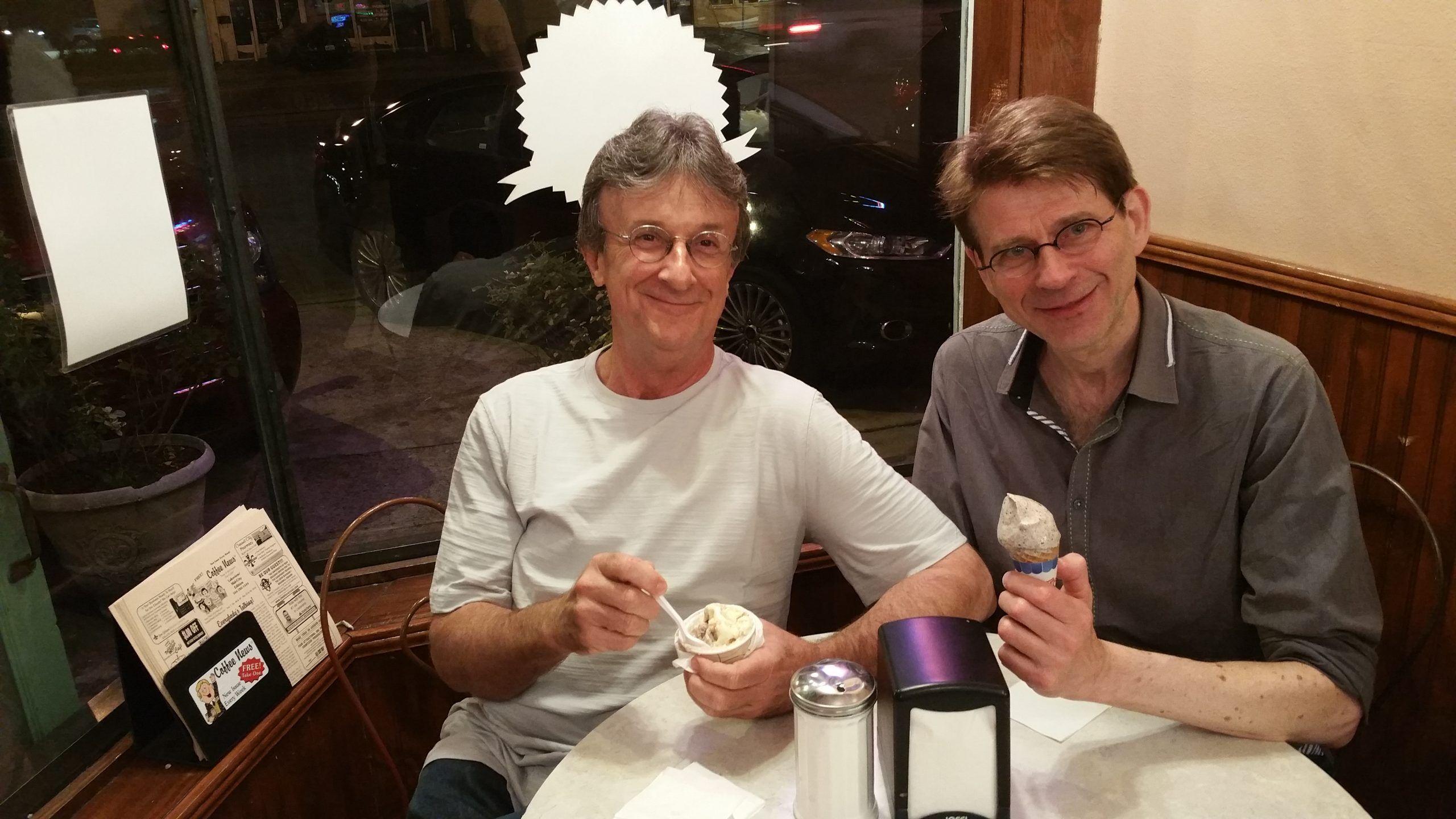 Steve and Morten Gunnar Larsen at Brocato's Ice Cream New Orleans