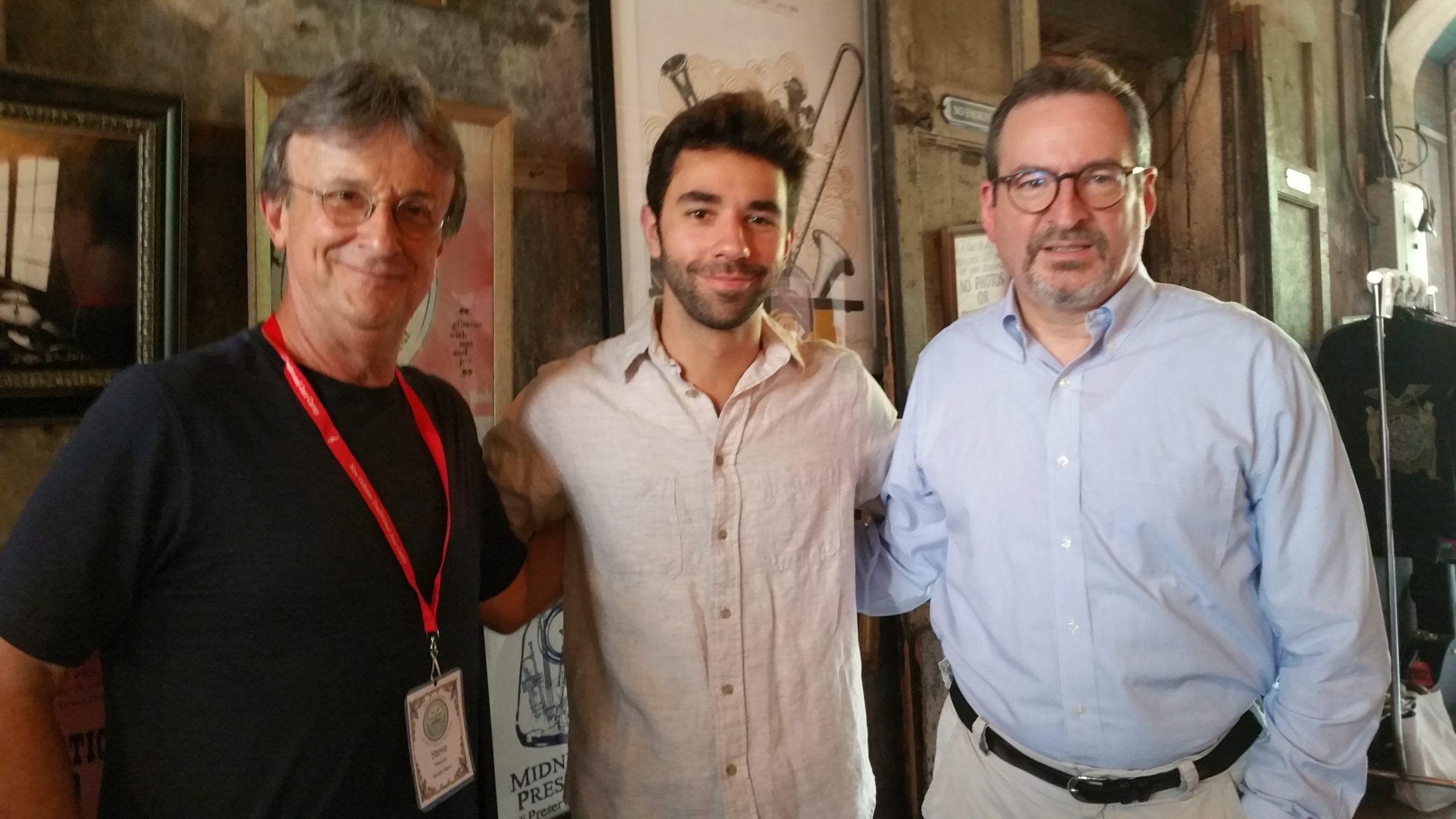 Piano instructors at New Orleans Trad Jazz Camp - Steve, Kris Tokarski, David Boeddinghaus