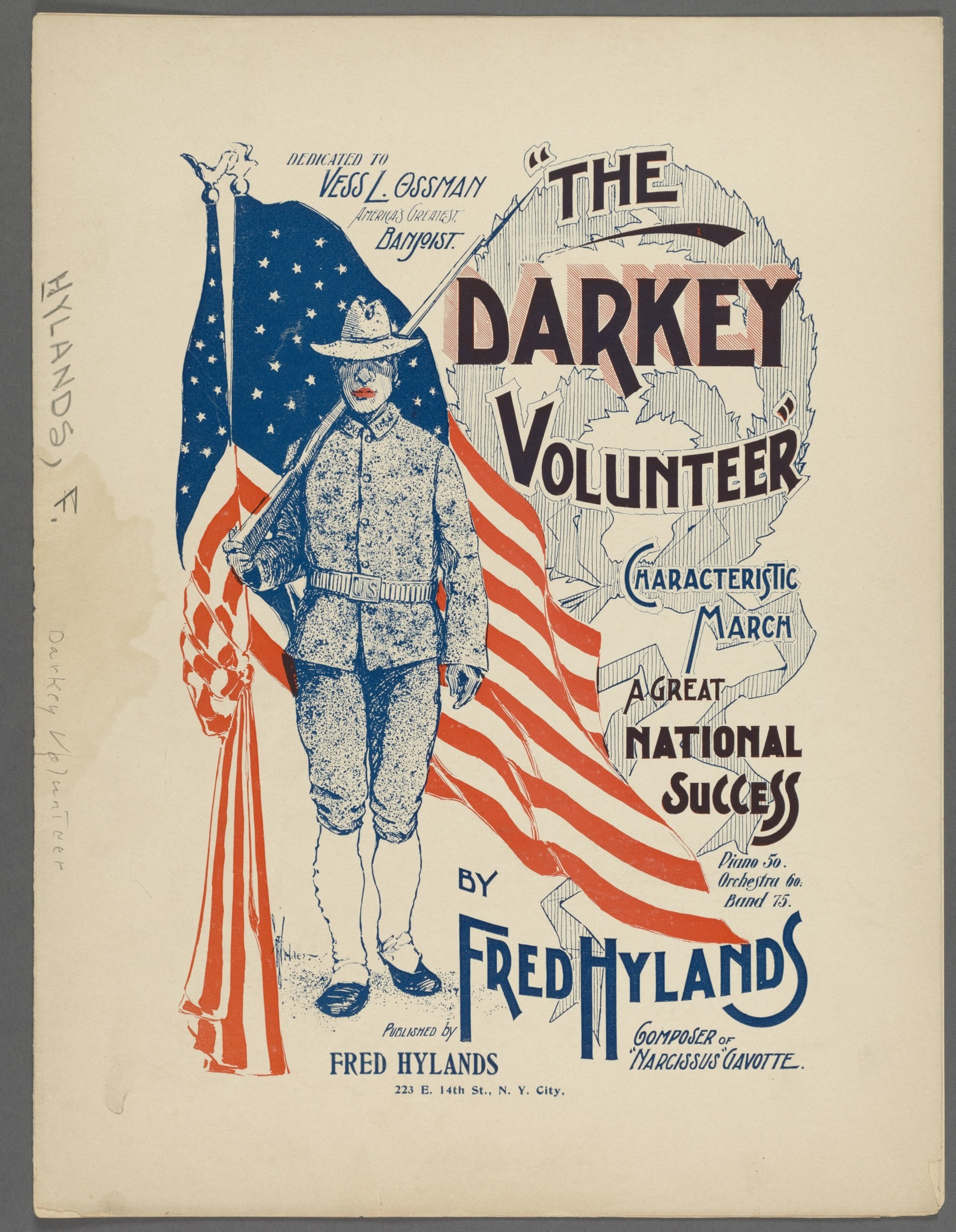 Fred Hylands Darkey Volunteer, 1898
