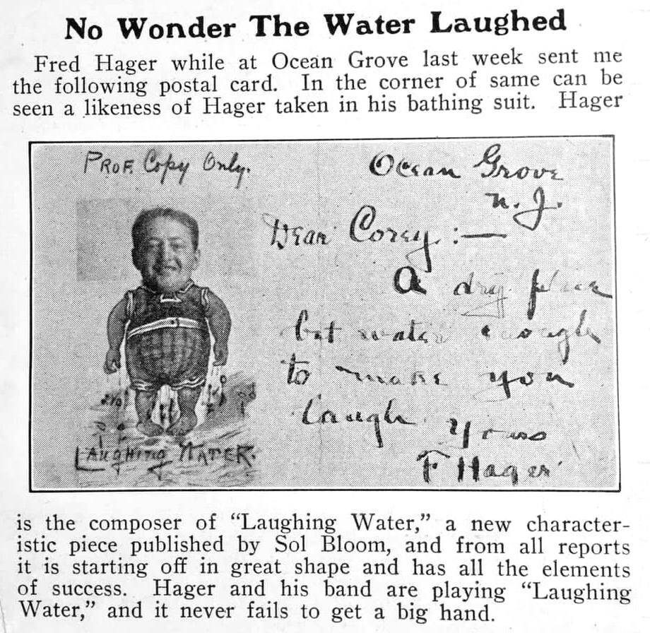 Laughing Water Fred Hager 1903