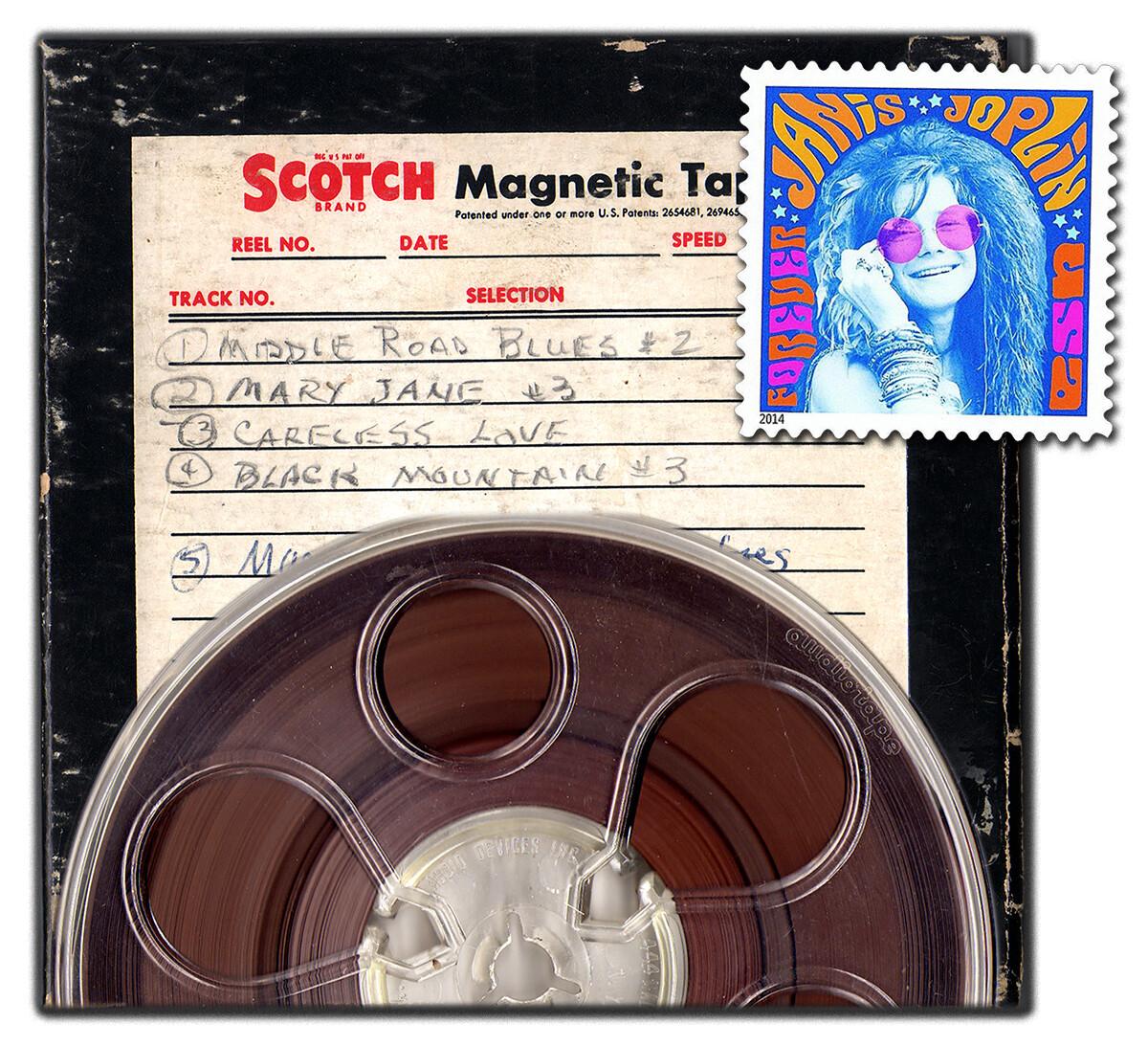 Joplin audiotape box + stamp
