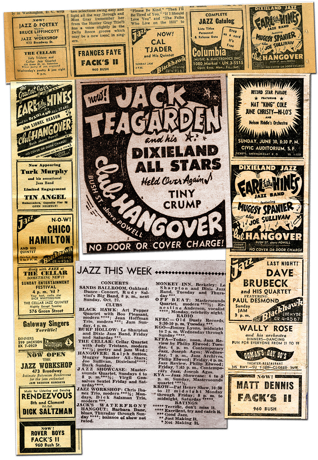 San Francisco had a booming jazz scene in 1956-57.