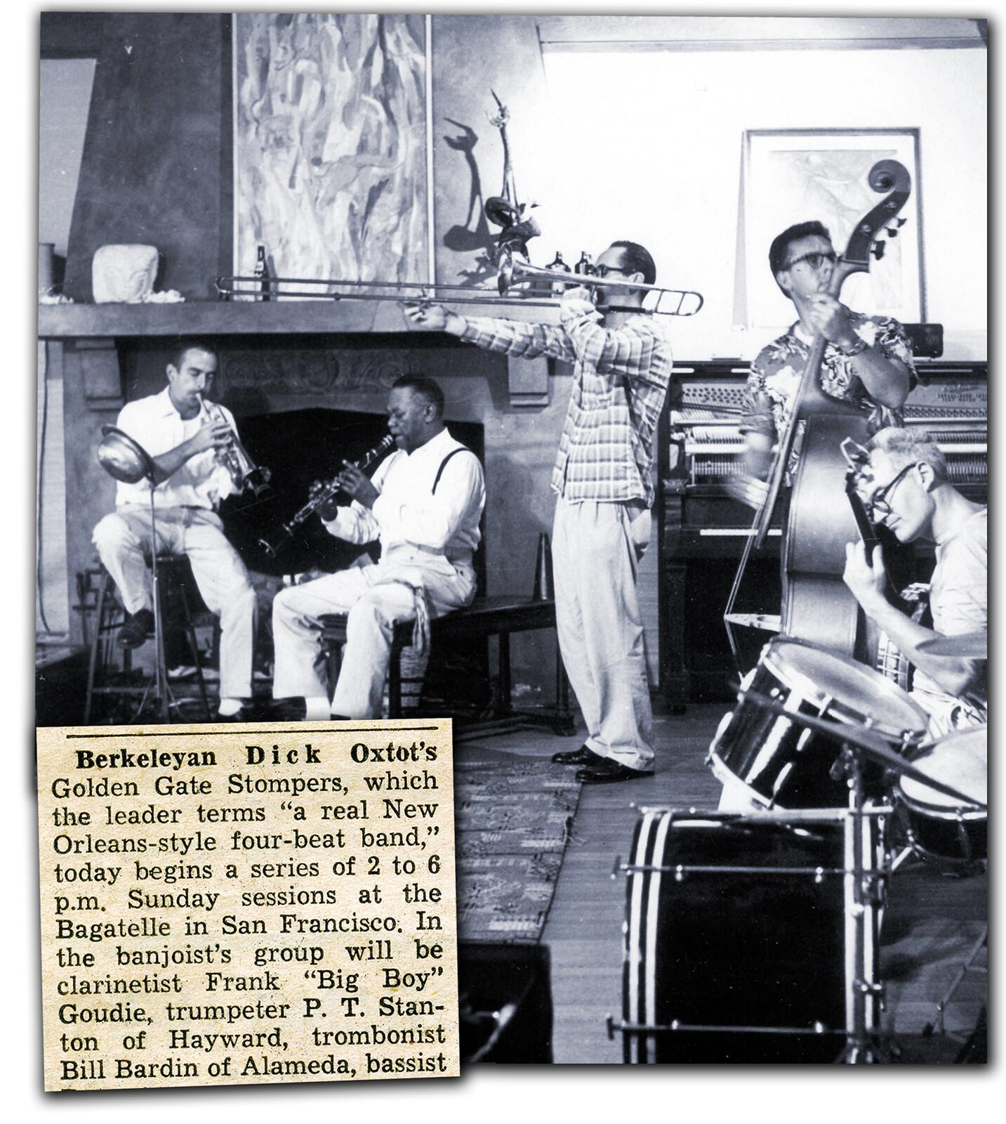 Dick Oxtot's ensemble from the Bagatelle