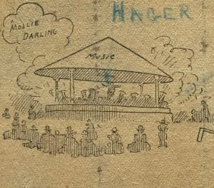 Hagers orchestra caricature(1902)