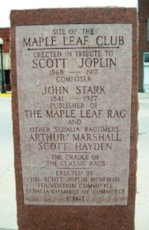 Maple Leaf Club Historic Marker