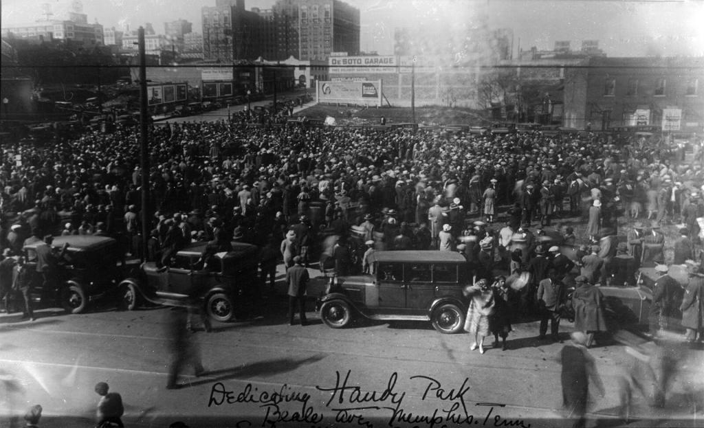 Dedication of Handy Park in Memphis, 1936. Courtesy W.C. Handy Home and Museum and Mr. Handy's Blues.