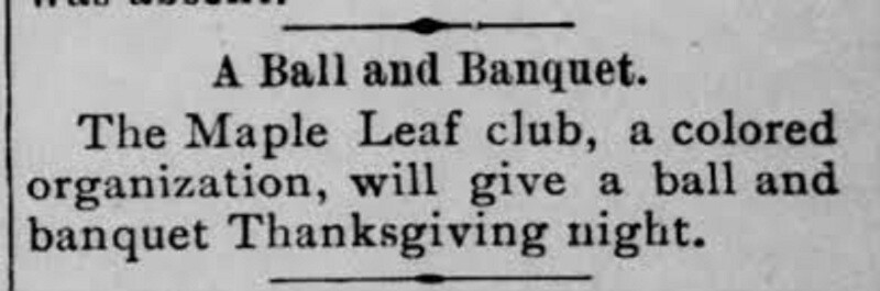 What was the Maple Leaf Club really like?