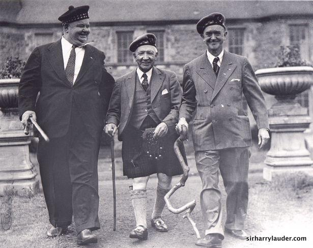 Sir Harry Lauder With Laurel and Hardy in 1948 (Image: www.sirharrylauder.com)