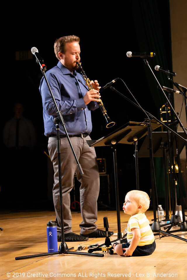 Jory Woodis and his son Benny