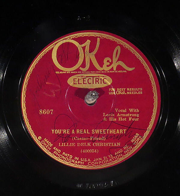 Lillie Delk Christian with Louis Armstrong's Jazz Four