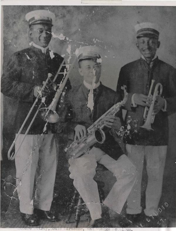 Portrait of Honore Dutrey, Louis Warnick and George McCullum Sr.