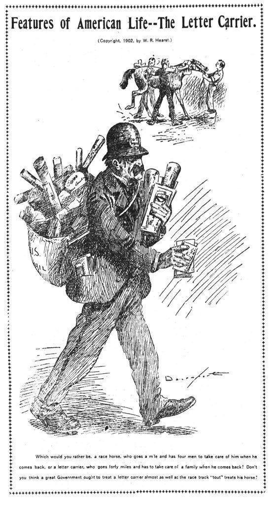 The Letter Carrier - Homer Davenport 1902