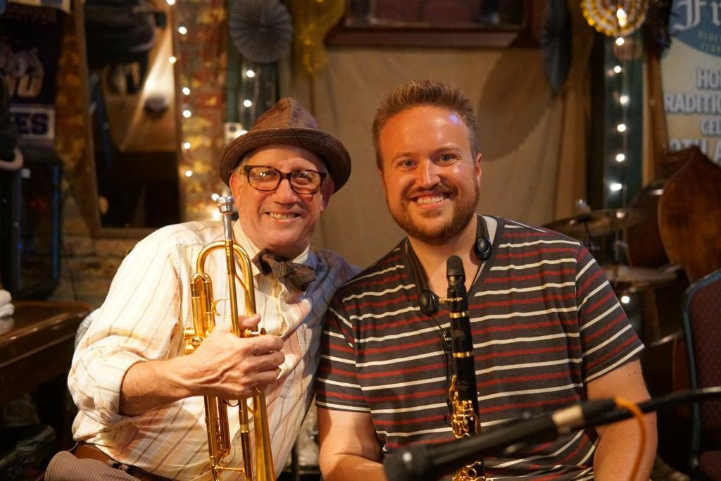 DUKES of Dixieland leader Kevin Clark with Jory Woodis