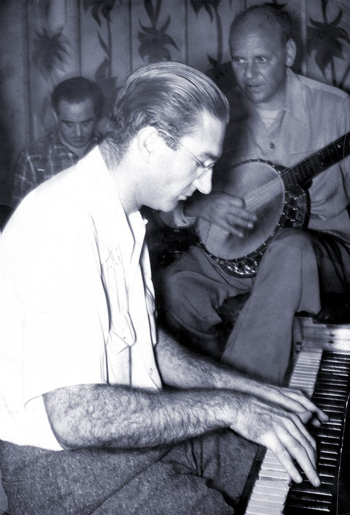Burt Bales with drummer Fred Higuera and Clancy Hayes