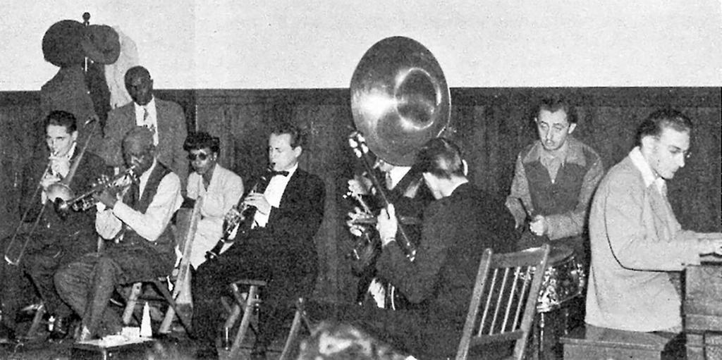 Bunk Johnson's Hot Seven at CIO Hall in San Francisco, 1943.