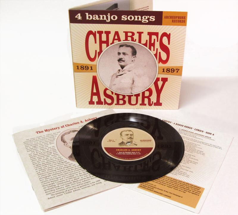 Charles A. Asbury • 4 Banjo Songs, 1891-1897 (7 Inch Vinyl)