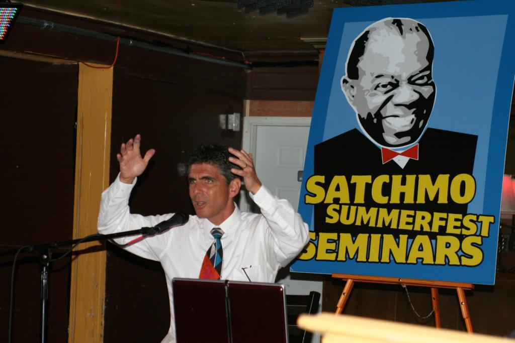 David Sager Delivering the Message at Satchmo Summerfest, New Orleans