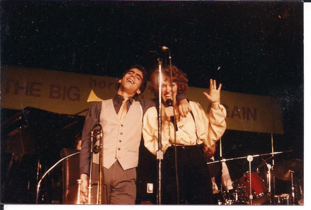 David and Banu Gibson at a festival, 1980s