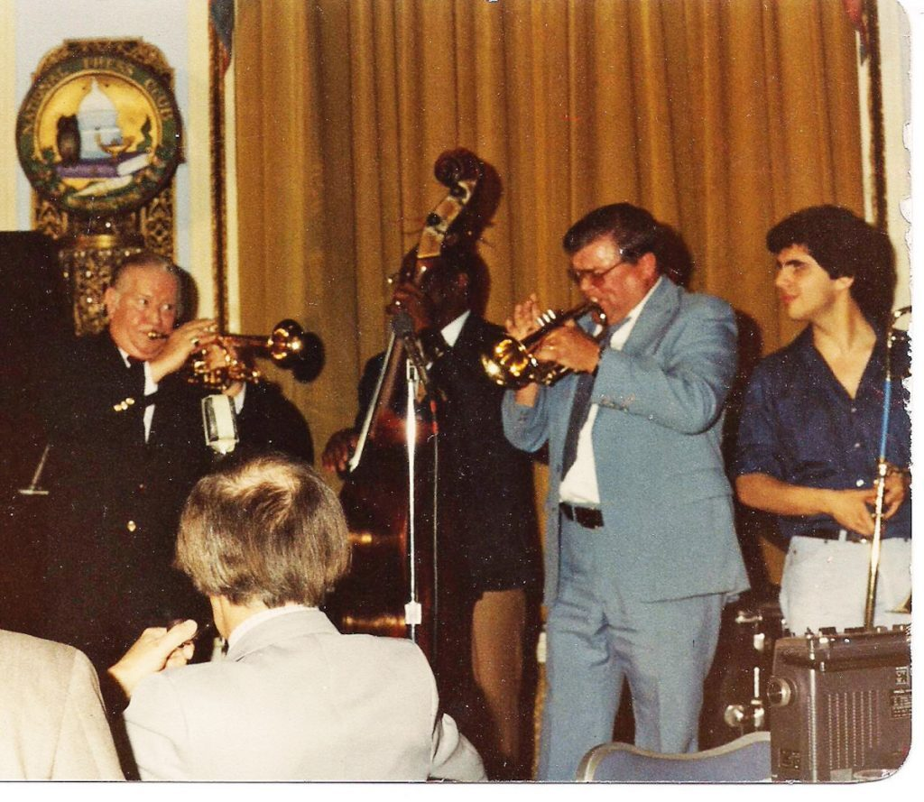 David with Wild Bill Davison, Van Perry, Wild Bill Whelan at National Press Club 1979