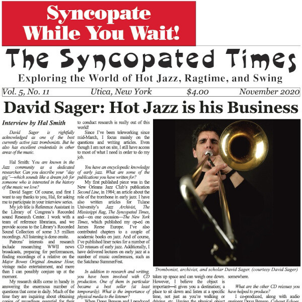 Syncopated Times 2020-11 November cover