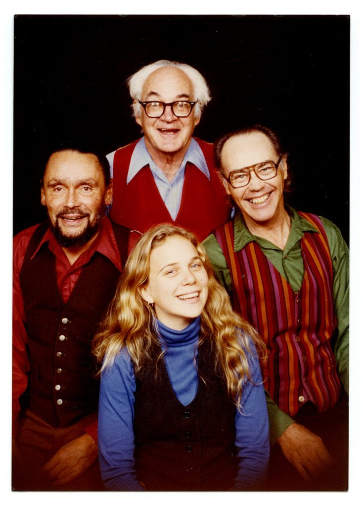 Jack Minger, Dick Oxtot, Barbara Higbie, Bill Bardin.
