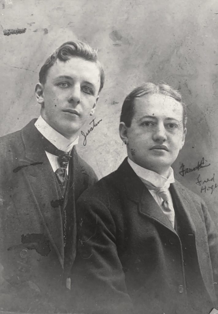 Justin Ring and Fred Hager in 1902.